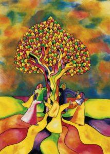 Nurturing Art greeting card - Celebration