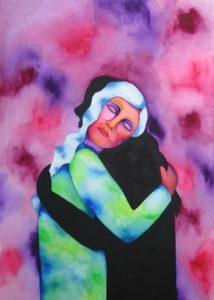 Nurturing Art greeting card - Embrace Shadow Self