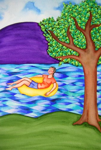 Floating and Relaxing by Rita Loyd Unconditional Self-Love