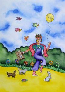 Nurturing Art greeting card - Make Time For Joyous Moments
