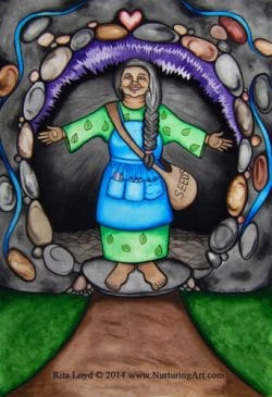 Mother Earth Welcomes You by Rita Loyd Unconditional Self-Love Painting