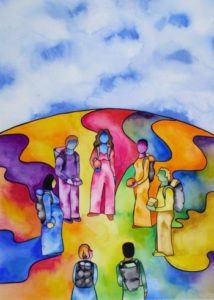 Nurturing Art greeting card - Pathways