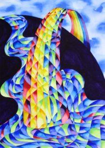 Nurturing Art greeting card - Rainbow