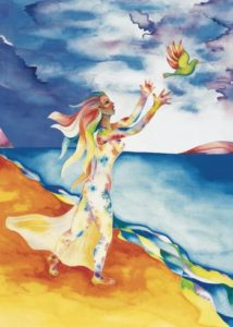 Nurturing Art greeting card - Release