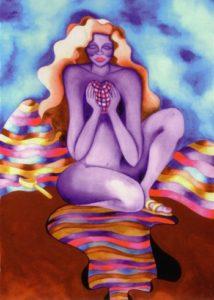 Nurturing Art greeting card - Self Discovery