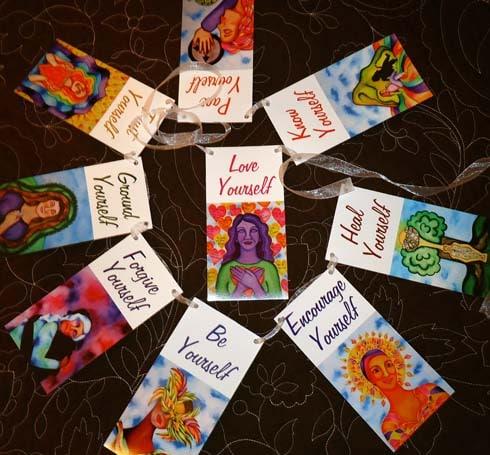 Self-love prayer flags