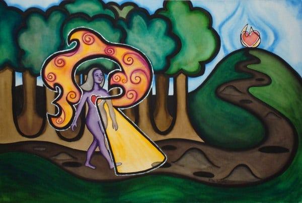Light of Passion nurturing art self care love painting