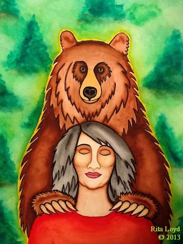 Medicine Bear by Rita Loyd Unconditional Self-Love